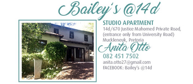 Bailey's @ 14D, self catering, accommodation, pretoria cbd, muckleneuk, bailey's muckleneuk, studio apartment, university accommodation, college rooms
